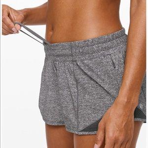grey lulu shorts. size 4